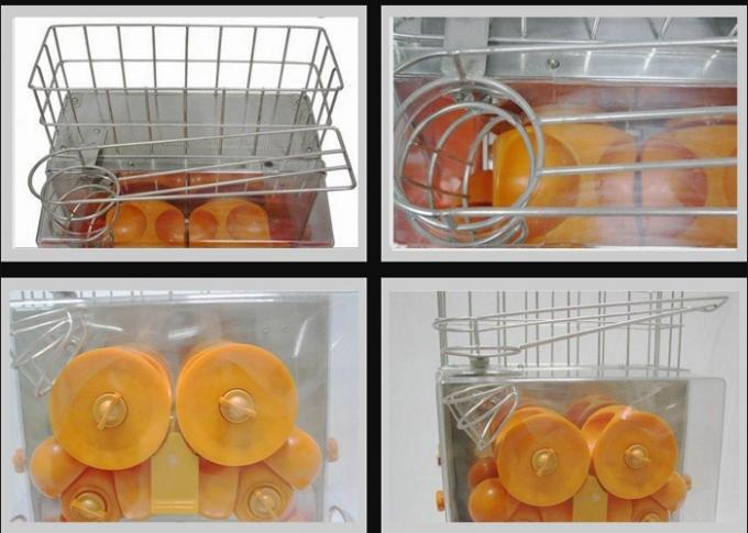Electric 250w Commercial Orange Juicer Machine Automatic And Stainless Steel Body