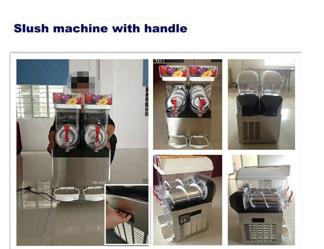 15L×1 PC Brand New Dual Bowl Margarita Ice Slush Machine For Cafe and Bar
