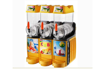 China 800W Snack Shop Ice Slush Machine , Commercial Electric Three Bowl Hot Juice Dispenser supplier