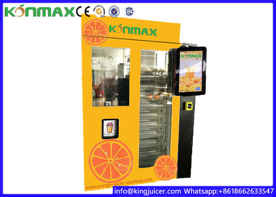 Self - Service Orange Juice Vending Machine , Orange Fresh Vending Machine