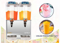 2 Tank Cold Beverage Dispenser Juice Drink Cooler Jet Type Drink Dispenser