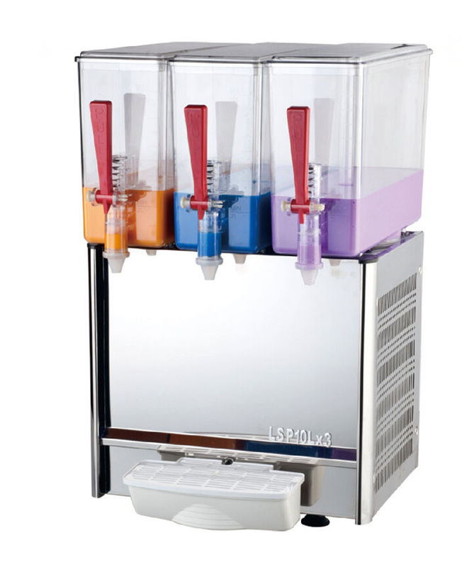 Cold And Hot Juice Mixer Machine Fruit Cold Drink Dispenser With Pump Spraying System