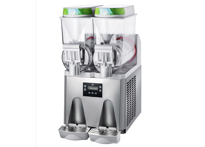 Supermarket 600w Ice Slush Machine Van / Frozen Juice Machine With Aspera Compressor