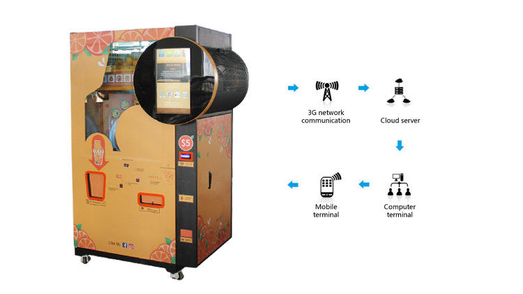 Automatic Coin Operated Fresh Fruit Juice Vending Machine