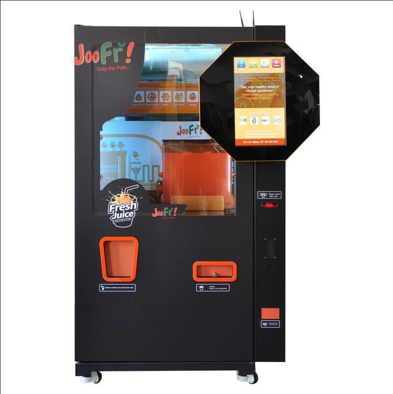 Intelligent Automated Fresh Orange Juice Vending Machine With 20 Inch Lcd Size