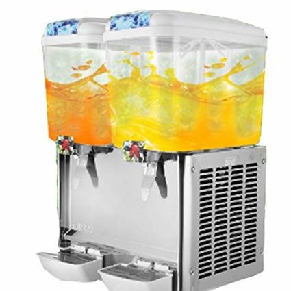 Commercial Cold Beverage Dispenser / Fruit Juice Dispenser Machine Double Head