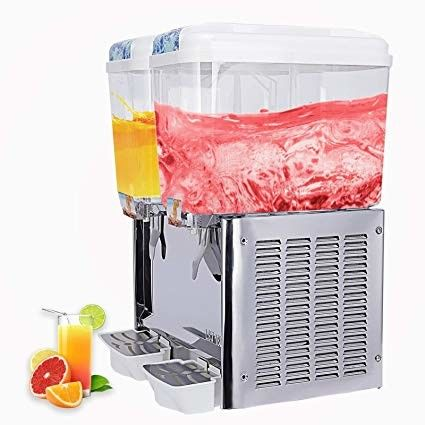 Two Tanks Cooling and Mixing Beverage Cold Drink Dispenser Machine For Bars Shops 18L×2