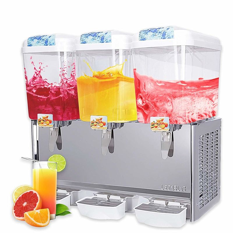 18L Commercial Fruit Juice Dispenser , Spray Cool And Hot Drink Machine for Hotel