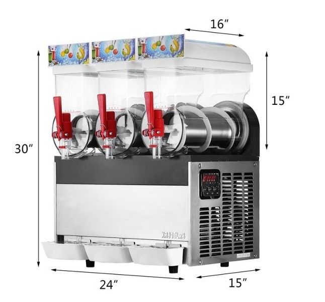 CE Certificate 3 Flavors Ice slush Machine Milkshake Smoothie Frozen Slush Machines