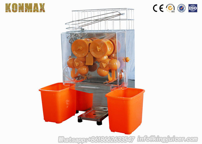 120W Fresh Squeezed Orange Juice Vending Machine Auto Feed Hopper