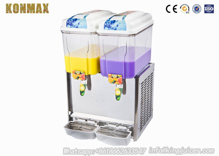 Commercial Double Tanks Cold Juice Dispenser / Beverage Dispenser Machine