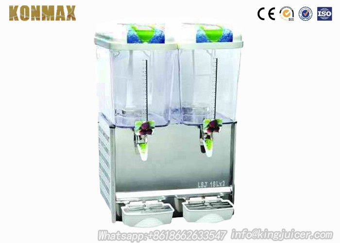 Double Tanks 18 L Commercial Cold Juice Dispenser With Mixing Pole