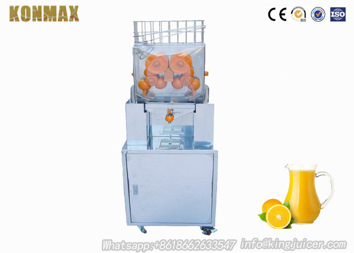 Orange Juice Processing Machine / Fruit Juice Extractor For Supermarket