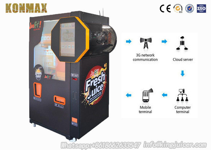 Auto Coin Operated Freshly Squeezed Orange Juice Vending Machine Refrigeration System