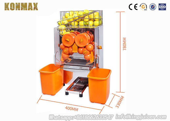 Healthy and Fresh Commercial Orange Juicer Machine 120W With Metal Gears