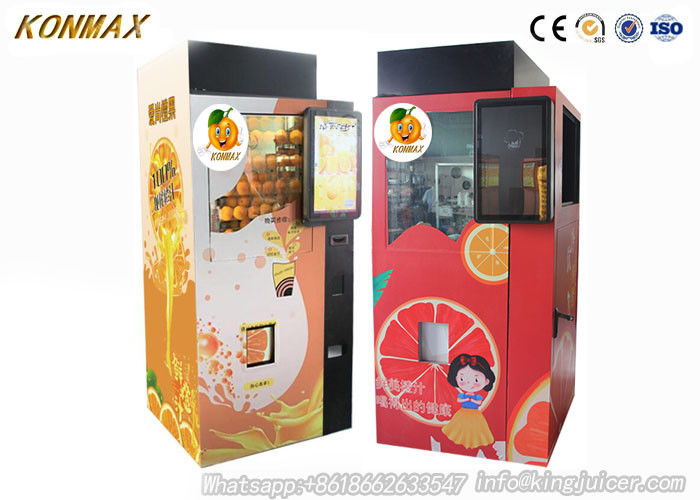 Ozone Sterilazation Orange Juice Vending Machine  Apple Pay Credit Card