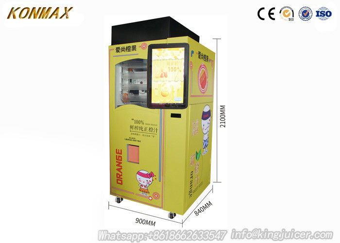 Freshly Squeezed Orange Juice Vending Machine Credit Card / Coins / Notes Acceptors