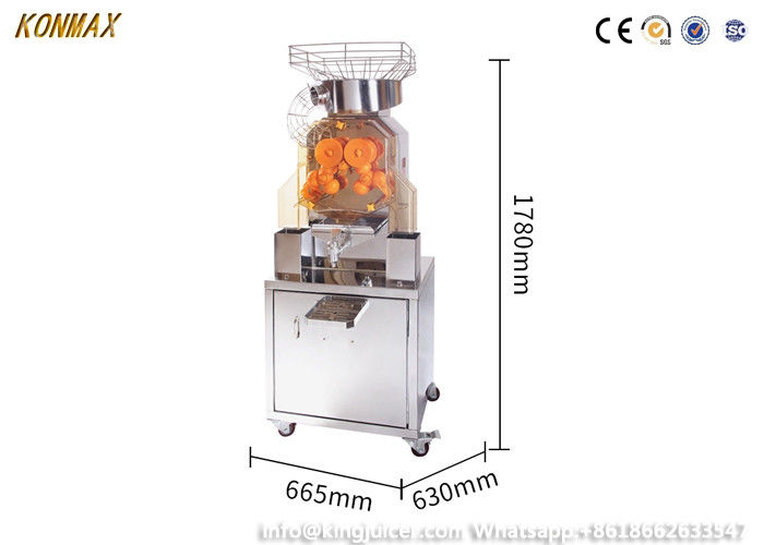 Self Serivce Orange Juicer Machine For Supermarket With Inmetro Certificate