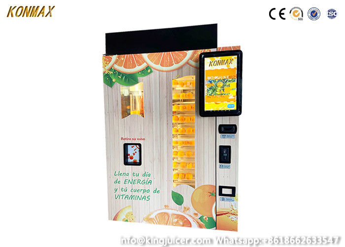 Wifi Control System Orange Juice Vending Machine Business Apple Pay Credit Card Payment