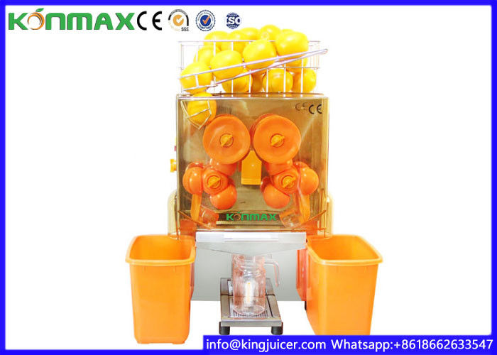 Auto Feed Squeeze Zumex Orange Juicer 20-22 Oranges Per Mins Safety Cut Off Switched