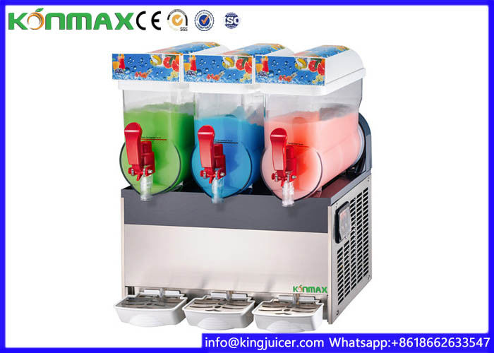 15L×3 500W Stainless Steel Commercial Ice Slush Machine for Laboratory , Restaurant