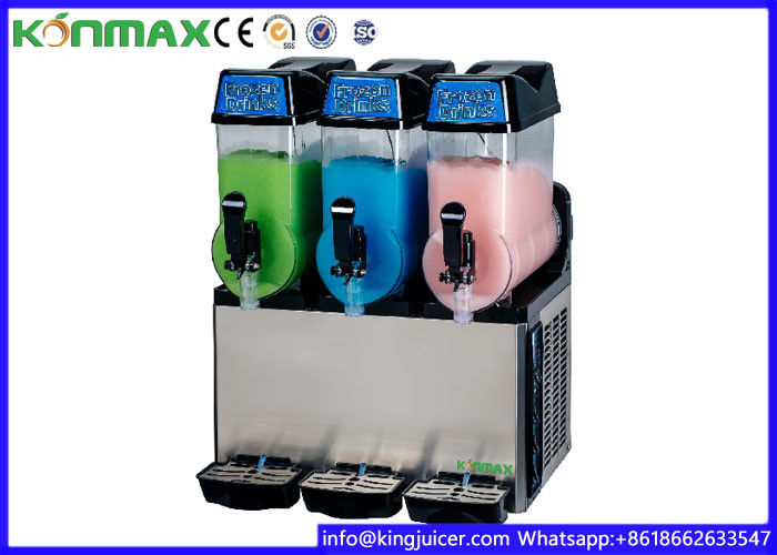 Stainless steel Commercial Slush Machine 12 Liter With Three bowls