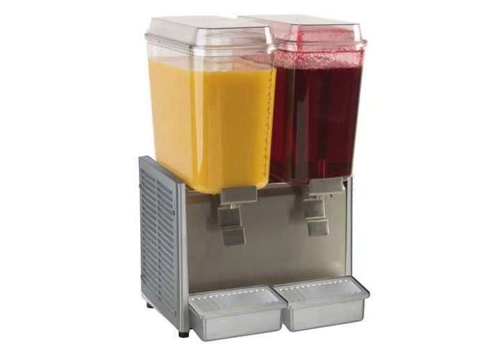 9L×2 Fruit Juice Hot or Cold Drink Dispenser with Heating System , Mixing , Spraying