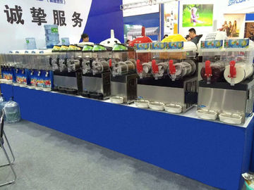 China Single Compressor Ice Slush Machine Air Cooling With Three Bowl distributor