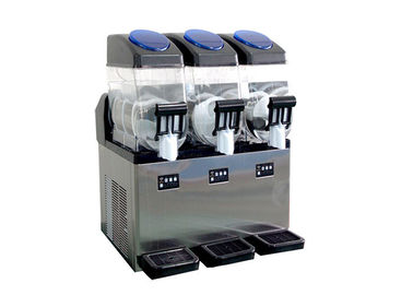 China Professional Commercial 3 Flavor Frozen Slush Machine 220v 360 Degree Wrap Around CE distributor