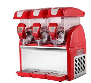Professional Commercial 3 Flavor Frozen Slush Machine 220v 360 Degree Wrap Around CE