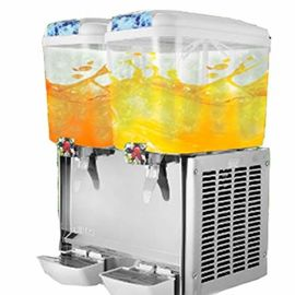 China Commercial Cold Beverage Dispenser / Fruit Juice Dispenser Machine Double Head distributor