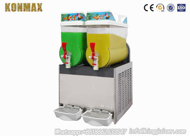 Mall Commercial Grade Ice Slush Machine Snow Melt Making With Two Tanks