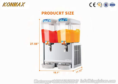China Professional Auto Commercial Beverage Dispenser For Soft Drinks 18L×2 factory