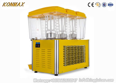 China commercial refrigerated juice dispenser for snack food store  with led light factory