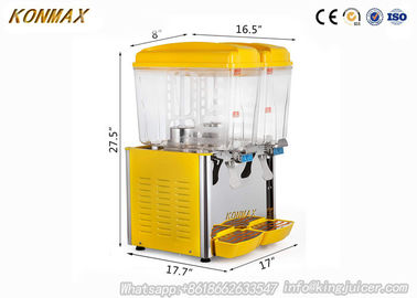China Commercial 2 Tanks Cold Drink Juice Beverage Dispenser with Jet Spray Refrigerate factory