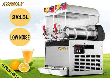 15L X 2 Tank 110V 700W Frozen Drink Machine Margarita Maker For Restaurant Supermarket