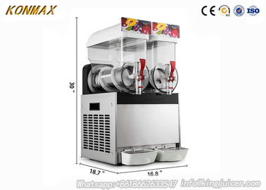 China 15L Double Bowl 700W Frozen Drink Maker For Ice Slushies , Long Life Time factory