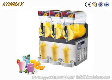 3 Bowls Ice Slush Machine , Frozen Margarita Machine With LED Light Cover