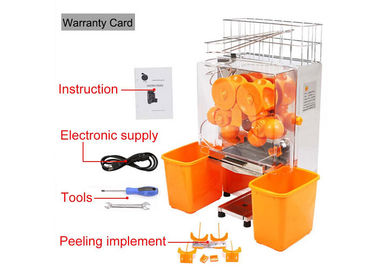 China Desk Top Fresh Orange Juice Squeezer With Stainless Steel Touch pad factory