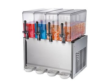 China 4 Tanks Buffet Cold Drink Dispenser / Commercial Juice Dispensers With Pump Spraying System distributor
