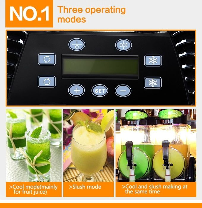 10L×2 Large Capacity Commercial Slush Machine For Beverage Juice Drinks , 110V - 115V