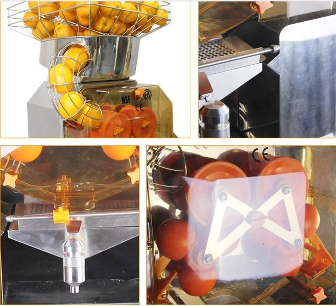 Commerical Automatic Orange Juicer Machine Food Grade Stainless Steel Body