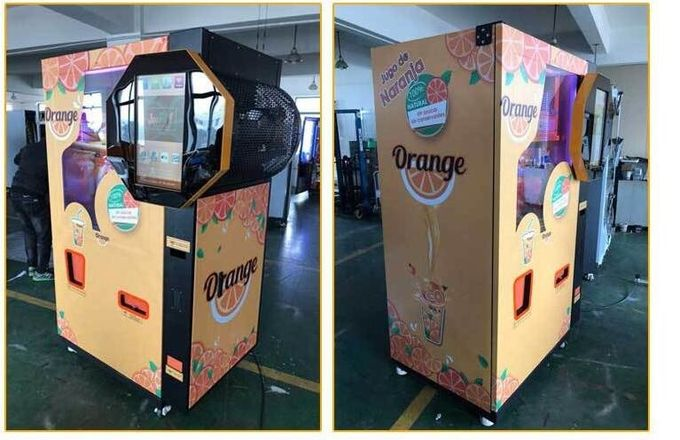 CE Commercial Auto Orange Fresh Vending Machine , Fresh Fruit Juice Vending Machine 1