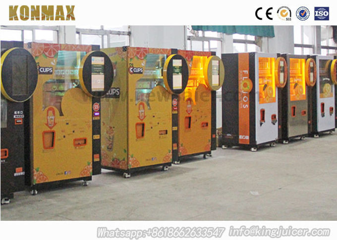 Shopping Mall Commercial Orange Juice Vending Machine Coins And Notes Acceptors 2