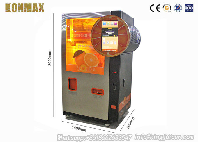 Commercial Auto Juice Vending Machine Multi Payments For Subway Station