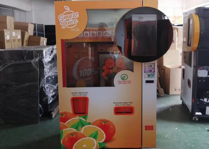 Standard Orange Lemon And Pomegrante Juice Vending Machine Banknote Cash Coin Operated