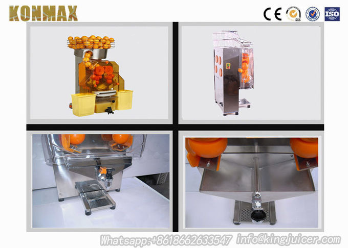 High Output Industrial Orange Juice Extractor With Automatic Feeder For Restaurant