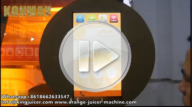CE Commercial Auto Orange Fresh Vending Machine , Fresh Fruit Juice Vending Machine 2