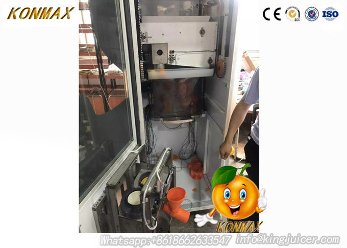 Electric Freshly Squeezed Orange Juice Vending Machine With LED Display Screen 1