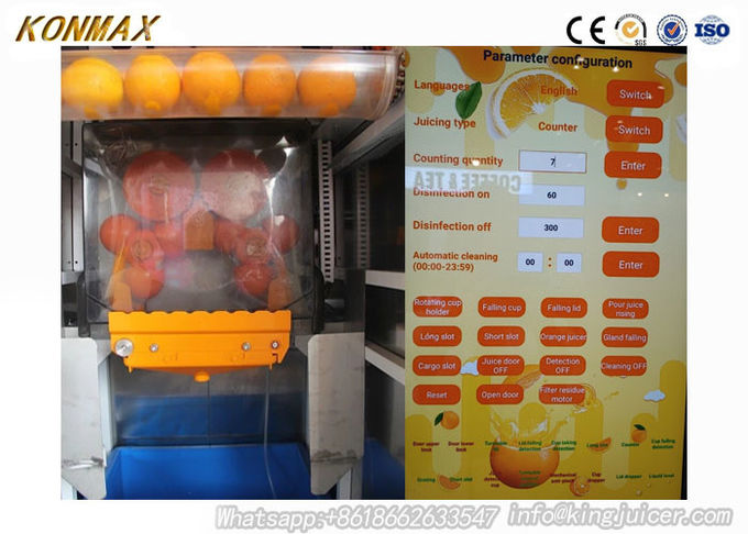 Electric Freshly Squeezed Orange Juice Vending Machine With LED Display Screen 0